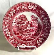 Copeland Spode Tower Pink Transfer 8 3/4 Bread And Butter Bowl