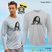 +50 Upf Sun Protection Bob Marley Long Sleeve Fishing Boat Funny Gift Fishing Bo