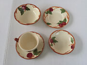 Lot Of 5 Assorted Franciscan Apple China - Chipped So Perfect For Crafts