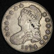 1824/0 Over Various Dates Capped Bust Half Dollar Choice Xf Free P/h E336 Wctx