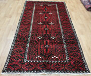 Old Handmade Persian Tribal Rug 250 X 120 Cm Hand Knotted Wool Rug