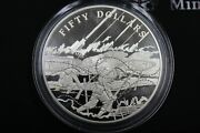 Cayman Islands Wwi 90th Ann. 65mm Sterling Silver Proof 50 Coin 150 Made