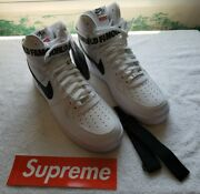 Nike Air Force 1 White Supreme World Famous High Tops Never Worn Rare Size 11