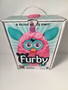 2012 Electronic Interactive Furby Doll Cotton Candy Teal Hasbro