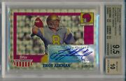 Troy Aikman 2005 Topps All American Auto Chrome Superfractor 1/1 Bgs 9.5 Gem Mt