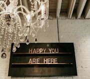 Huge Gorgeous Hanging Letterboard Sign W/ Antique Metal- Created Custom