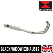 Yamaha Fzr 1000 Exup 4-1 Exhaust System 350mm Gp Round Stainless Silencer Sg35r