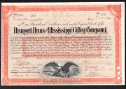 Newport News And Mississippi Valley Rr Share - 1888 - Signed By C.p.huntington