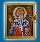 Orthodox Icons Handpainted Hagiography Collection On Carved Wood Ikonen Ikone