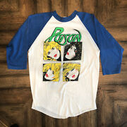 Vtg Poison Look What The Cat Dragged In 1986 Tour Shirt 80s Band Single Stitch L