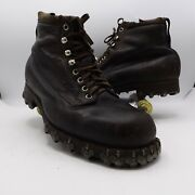 Vtg Mens 45ee Us Ww1 Army Hobnail Rough Out Combat Alpine Mountaineering Boots