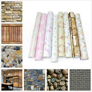 10m 3d Brick Self Adhesive Contact Paper Roll Peel And Stick Wall Sticker Films