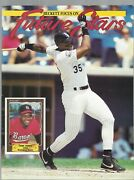 Frank Thomas Cover Future Stars Baseball Price Guide Avery On Back + 18 Cards