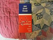 1965 St Louis Cardinals Media Guide Yearbook Program 1964 World Series Champs