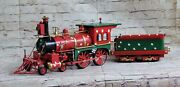 Vintage European Finery Toy Trains Steam Engine And Carriage Xmas Gift Decor