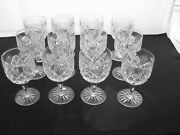 American Brilliant Cut Glass Set Of 12 Water Goblets St. Regis Signed Hawkes