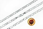 4mm Italy Solid 925 Sterling Silver Figaro Chain Necklace Bracelet 7- 32