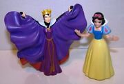 Disney 3 Snow White And The Seven Dwarfs And Evil Queen Grimhide Cake Topper Figure