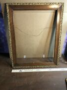 Vintage Antique Oak W/gesso Picture Frame Fits 18 1/2andrdquo By 24 1/2andrdquo Painting