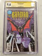 Batman Beyond 1 Cgc 9.6 Ss Signed By Will Friedle Voice Of Terry Mcguiness 1999