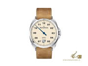 Meistersinger Metris Ivory Automatic Watch 38mm Leather Strap Me903-sv03