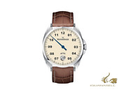 Meistersinger Metris Ivory Automatic Watch 38mm Leather Strap Me903-sg02