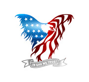 Eagle American Flag 18 Made In Usa Steel Indoor/outdoor Metal Wall Art Quality