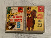 Daniel Boone And Cowboys And Indians Mini Card Game Vtg 1967 Ed-u-cards Western