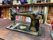Antique Singer Sewing Machine Vintage Table Collection-able