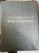 New World Translation Of The Holy Scriptures - Bible Silver Gilded Leatherette