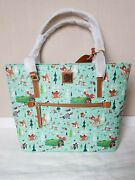 New Genuine Dooney And Bourke Disney Bambi And Friends Shopper Tote Bag Large B