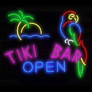 Neon Signs Gift Tiki Bar Open Beer Bar Pub Store Party Room Wall Display 19x15