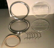 1928-1929 Model A Ford Headlight Rim And Two-lite Lense Super Deluxe Repair Set