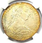 1776-mo Fm Mexico Charles Iii 8 Reales Coin 8r. Ngc Uncirculated Detail Unc Ms