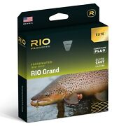 Rio Grand Elite Fly Line Green/yellow/gray - All Sizes - Free Fast Shipping