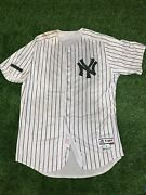Gary Sanchez New York Yankees Game Used Worn Jersey 2017 Mlb Auth Memorial Day