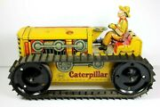Vintage Marx Heavy Duty Caterpillar Tin Wind Up W/ Driver - Works Great