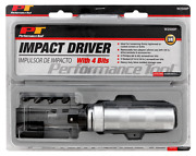 3/8 Drive Impact Driver Screwdriver W/ 4 Bits Performance Tool By Wilmar W2500p