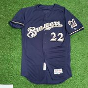Christian Yelich Milwaukee Brewers Game Issued Jersey 2018 Nl Mvp Year Mlb Auth