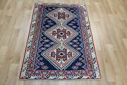 Old Handmade Persian Tribal Rug 140 X 100 Cm Hand Knotted Wool Rug