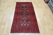 Old Handmade Persian Tribal Rug 185 X 90 Cm Hand Knotted Wool Rug
