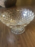 Large Vintage Fostoria Glass American Clear Compote Punch Bowl Statement Piece