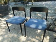 Two Mid Century Niels Otto Moller For Jl Moller Model 75 Teak Dining Chairs