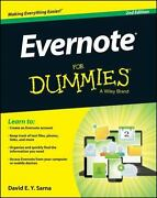 Evernote For Dummies By David E. Y. Sarna 2014, Trade Paperback