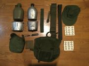 Vintage Vietnam War Bag And Canteens And Belt And Other Mix Gear Lot