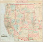 Watsonand039s Rare 1871 County And Railroad Map Of The West.