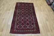 Old Handmade Persian Tribal Rug 180 X 95 Cm Hand Knotted Wool Rug