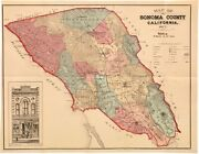 Rare 1877 Map Of Sonoma County With Important Pamphlet On Its Early History.