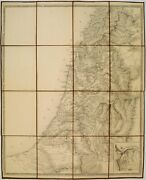 Unrecorded Proof State Of The Vandermaelen-jacotin Map Of Palestine.