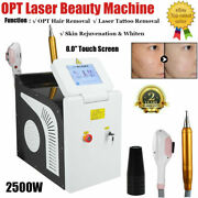 3in1 Shr Opt E-light Ipl Permanent Hair Removal Rf Yag Laser Tattoo Removal Spa